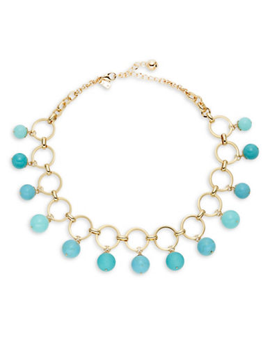 Kate Spade New York Start a Movement Statement Necklace-TURQUOISE-One Size