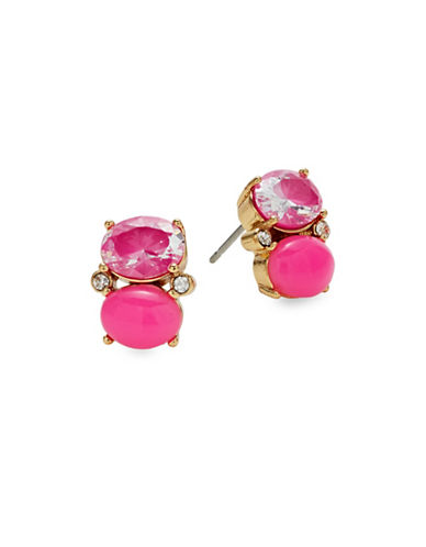 Kate Spade New York Shine On Drop Stud Earrings-PINK-One Size