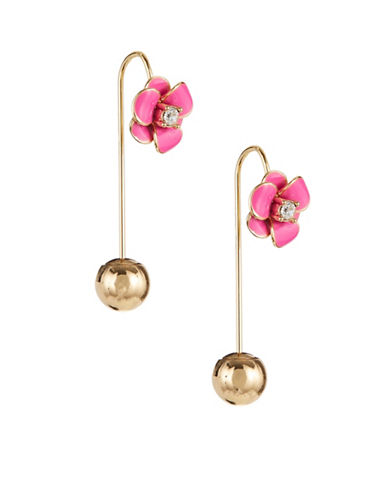 Kate Spade New York Shine On Flower Hanger Earrings-PINK-One Size