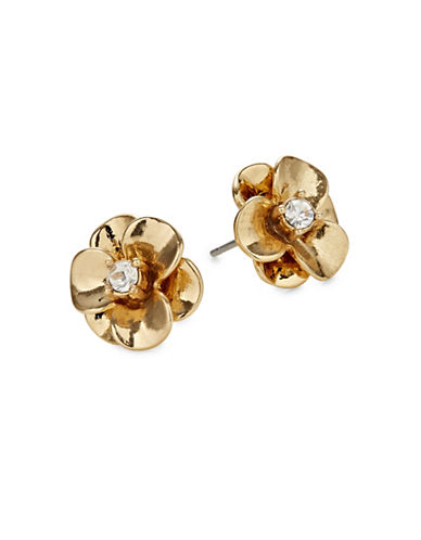 Kate Spade New York Shine On Goldtone Flower Stud Earrings-GOLD-One Size