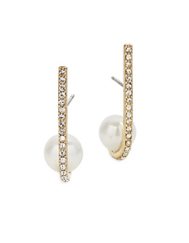 Kate Spade New York Shine On Bead Cuff Earrings-CREAM-One Size
