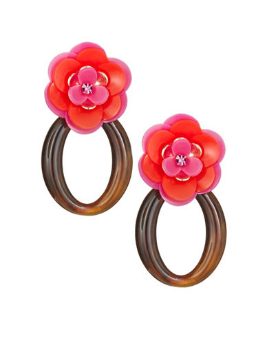 Kate Spade New York Rosy Posies Link Earrings-PINK-One Size