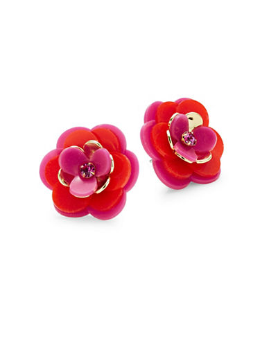 Kate Spade New York Rosy Posies Stud Earrings-PINK-One Size