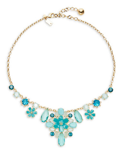 Kate Spade New York Here Comes the Sun Statement Necklace-BLUE-One Size