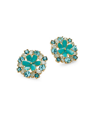 Kate Spade New York Here Comes the Sun Statement Stud Earrings-BLUE-One Size