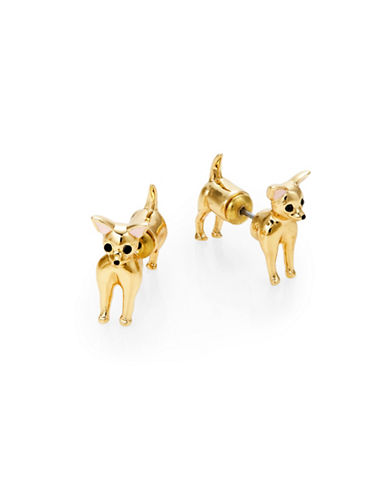 Kate Spade New York Chihuahua Front to Back Earrings-MULTI-One Size