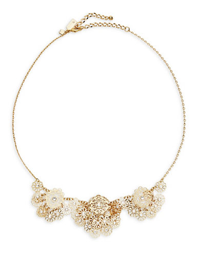 Kate Spade New York Filigree Floral Necklace-GOLD-One Size