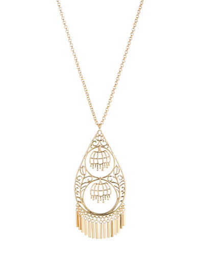 Kate Spade New York Golden Age Pendant Necklace-GOLD-One Size