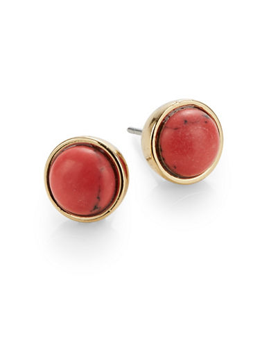 Kate Spade New York Rise and Shine Small Stud Earrings-RED-One Size