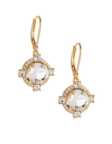 Kate Spade New York Crystal Cascade Leverback Earrings-GOLD-One Size