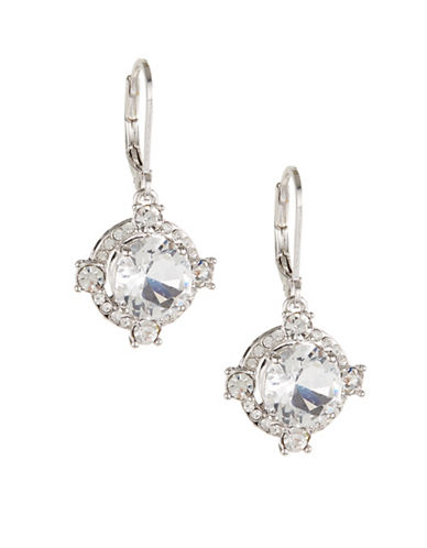 Kate Spade New York Crystal Cascade Leverback Earrings-SILVER-One Size