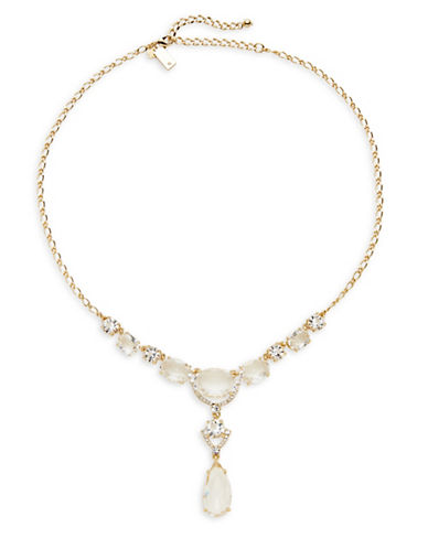 Kate Spade New York Crystal Cascade Mini Necklace-GOLD-One Size
