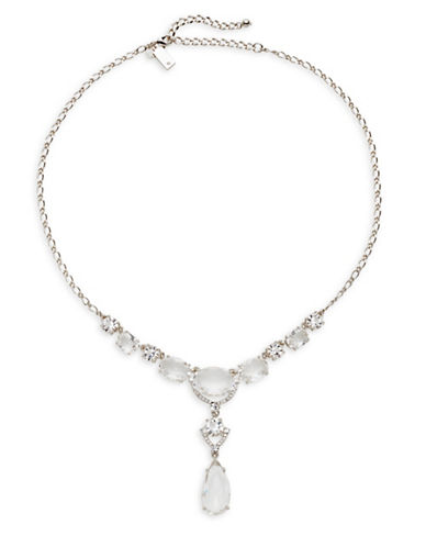 Kate Spade New York Crystal Cascade Mini Necklace-SILVER-One Size