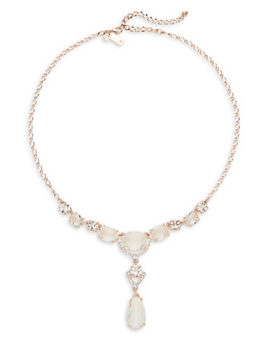 Kate Spade New York Crystal Cascade Mini Necklace-ROSE GOLD-One Size