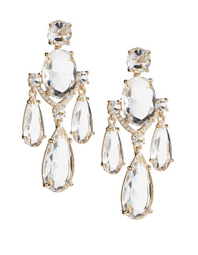 Kate Spade New York Crystal Cascade Statement Earrings-GOLD-One Size