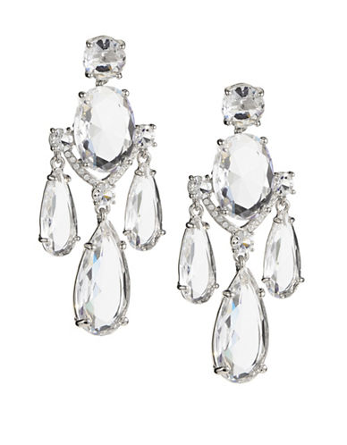 Kate Spade New York Crystal Cascade Statement Earrings-SILVER-One Size