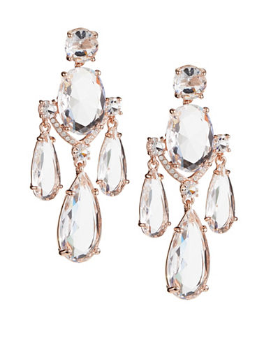 Kate Spade New York Crystal Cascade Statement Earrings-ROSE GOLD-One Size