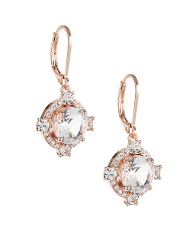 Kate Spade New York Crystal Cascade Leverback Earrings-ROSE GOLD-One Size