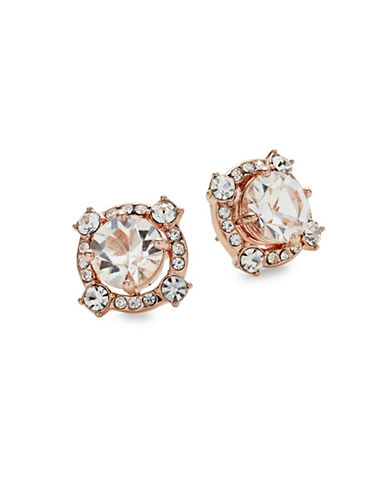 Kate Spade New York Crystal Cascade Stud Earrings-ROSE GOLD-One Size