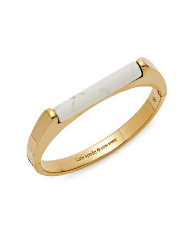 Kate Spade New York Building Blocks Bangle Bracelet-WHITE-One Size