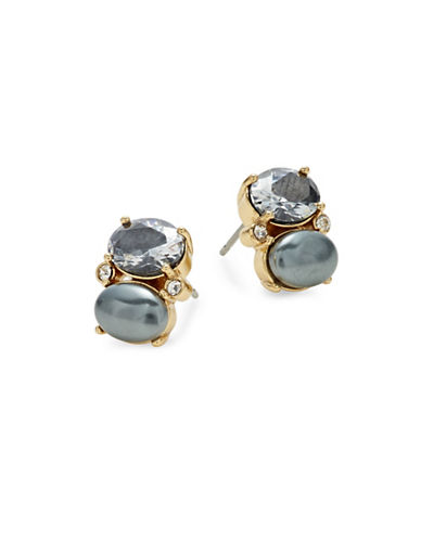 Kate Spade New York Shine On Drop Stud Earrings-GREY-One Size