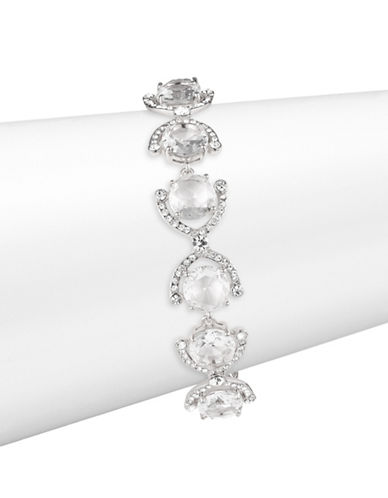 Kate Spade New York Crystal Cascade Bracelet-SILVER-One Size