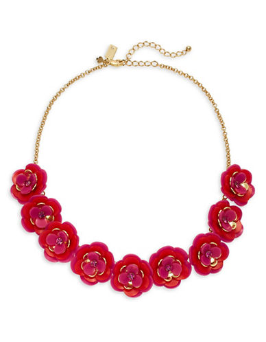 Kate Spade New York Rosy Posies Petal Necklace-PINK-One Size