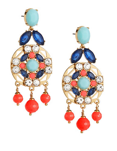 Kate Spade New York Crystal Cascade Statement Earrings-MULTI-One Size
