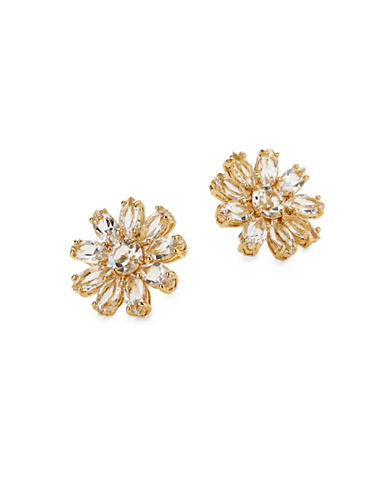 Kate Spade New York Crystal Gardens Large Stud Earrings-GOLD-One Size