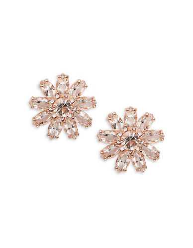 Kate Spade New York Crystal Gardens Floral Stud Earrings-ROSE GOLD-One Size