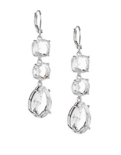 Kate Spade New York Make Me Blush Triple Drop Earrings-SILVER-One Size