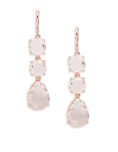 Kate Spade New York Make Me Blush Linear Teardrop Earrings-ROSE GOLD-One Size