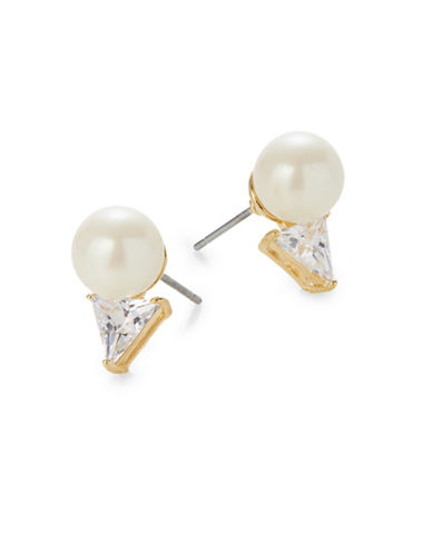 Kate Spade New York Bright Ideas Goldplated Triangle Bead Stud Earrings-GOLD-One Size