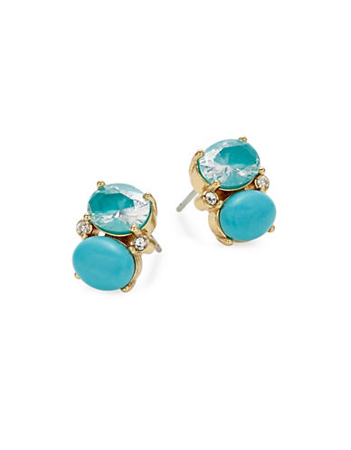 Kate Spade New York Shine On Drop Stud Earrings-BLUE-One Size