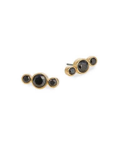 Kate Spade New York Bright Ideas Linear Stud Earrings-BLACK-One Size