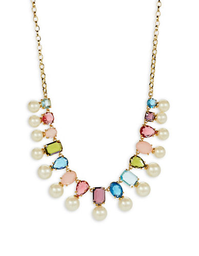 Kate Spade New York A New Hue Goldplated Bead Collar Necklace-MULTI-One Size