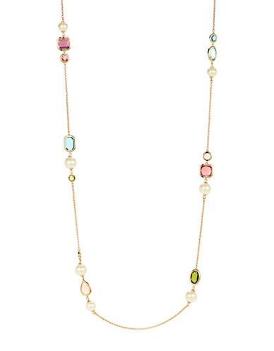Kate Spade New York A New Hue Goldtone Scatter Necklace-MULTI-One Size