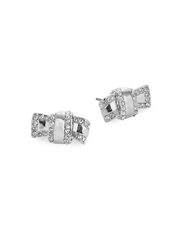 Kate Spade New York Silvertone Knot Stud Earrings-SILVER-One Size