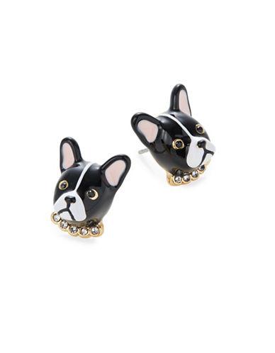 Kate Spade New York Ma Cherie Antoine Dog Stud Earrings-BLACK-One Size