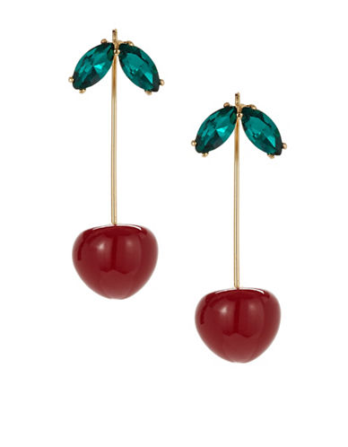 Kate Spade New York Ma Cherie Goldplated Pull-Thru Earrings-MULTI-One Size