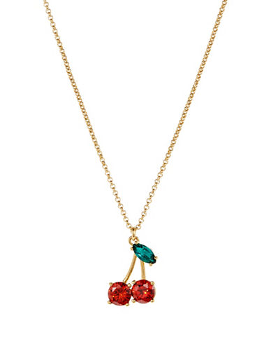 Kate Spade New York Ma Cherie Mini Pendant Necklace-RED-One Size