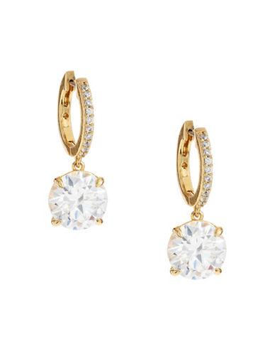 Kate Spade New York Goldtone Drop Hoop Earrings-GOLD-One Size