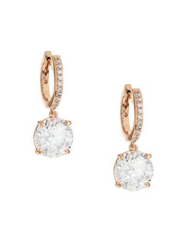 Kate Spade New York Bright Ideas Drop Hoop Earrings-ROSE GOLD-One Size