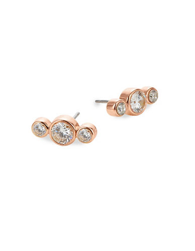Kate Spade New York Round Linear Stud Earrings-ROSE GOLD-One Size