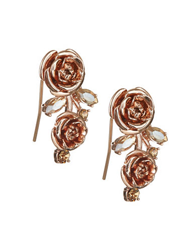 Kate Spade New York Crystal Floral Drop Earrings-ROSE GOLD-One Size