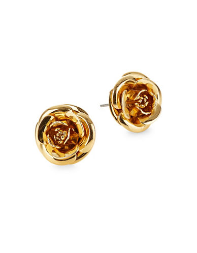Kate Spade New York Floral Stud Earrings-GOLD-One Size