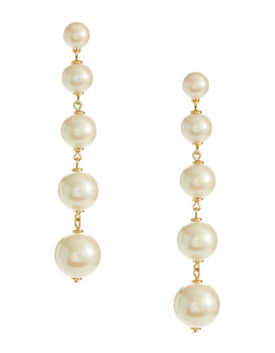 Kate Spade New York Faux Pearl Drop Earrings-PEARL-One Size