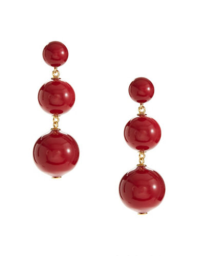Kate Spade New York Bauble Drop Earrings-RED-One Size