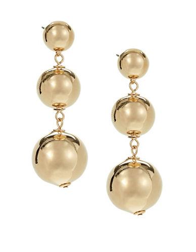 Kate Spade New York Golden Girl Goldplated Bauble Drop Earrings-GOLD-One Size