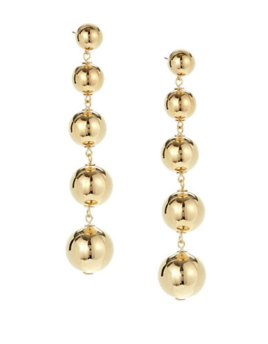Kate Spade New York Golden Girl Goldplated Bauble Statement Drop Earrings-GOLD-One Size